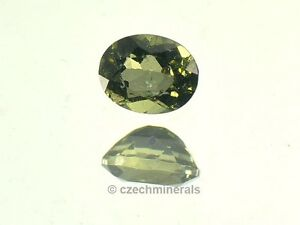 0.195cts oval normal cut MOLDAVITE FACETED CUTTED GEM 3.5x4.5mm #BRUS525