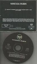 VANESSA RUBIN I want to Spend the Night RARE RADIO EDIT PROMO DJ CD Single 1997