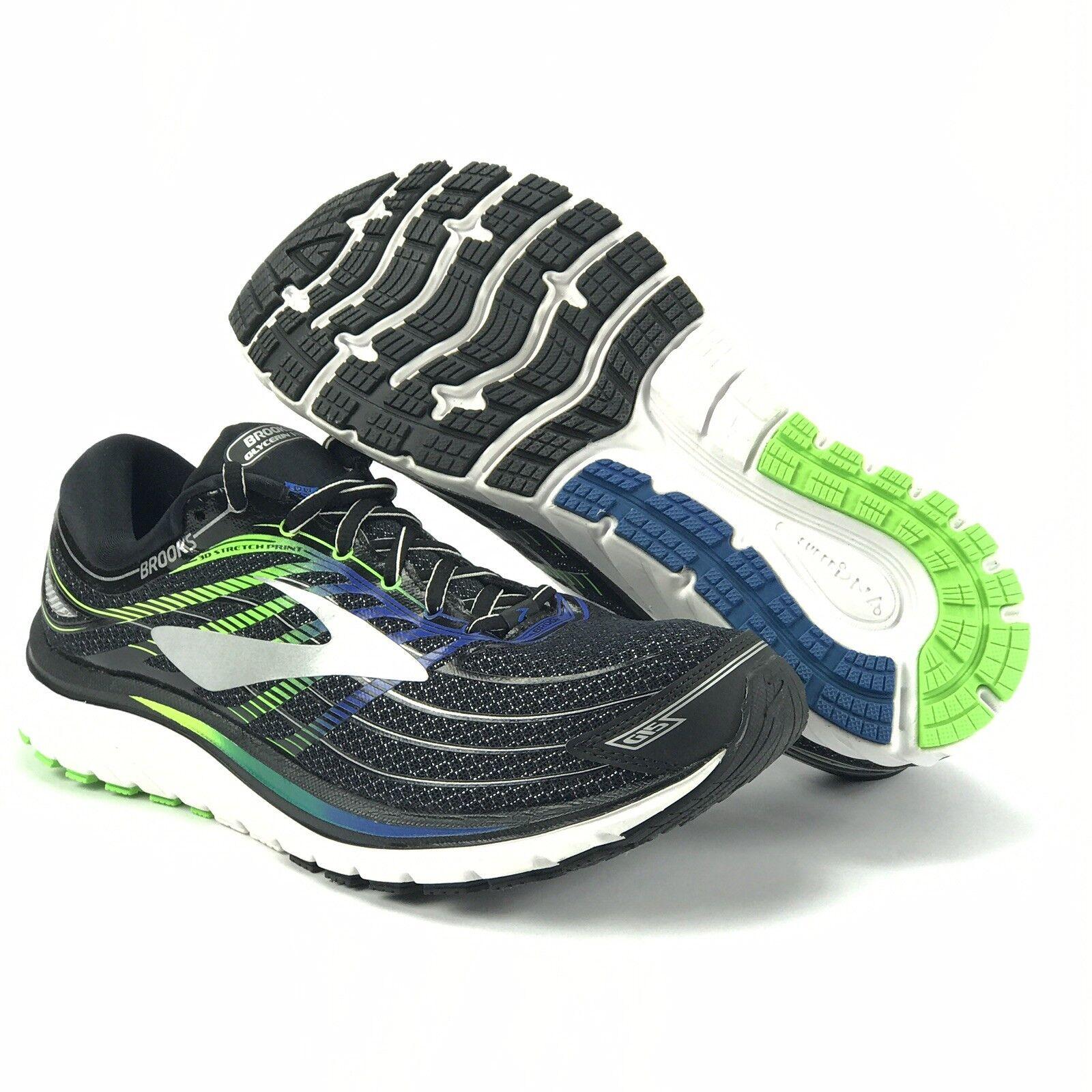 Brooks Glycerin 15 pour Homme électrique noire Brooks Bleu Vert Chaussures De Course Taille 8 D
