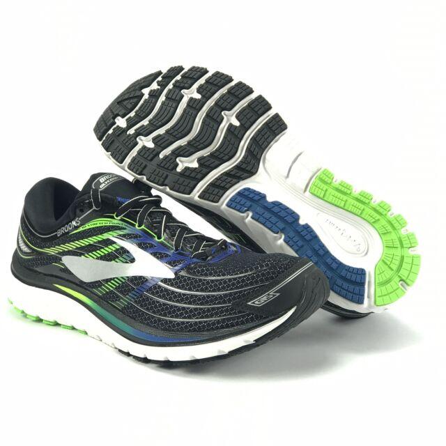 76af4ec2b04 Brooks Mens Glycerin 15 Black Electric Brooks Blue Green Running Shoes Size  8 D