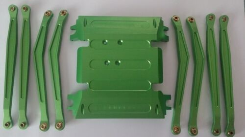 Axial Wraith #WRT11 Alu. Chassis Plate, Linkage Set Green