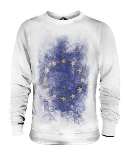 Europäisch Union Verblichen Flag Unisex Pullover Top Fußball-geschenk Hemd
