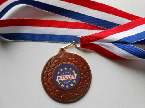 RIBBONS SET OF 5 TOP QUALITY METAL MEDALS CERTIFICATES = WINNER