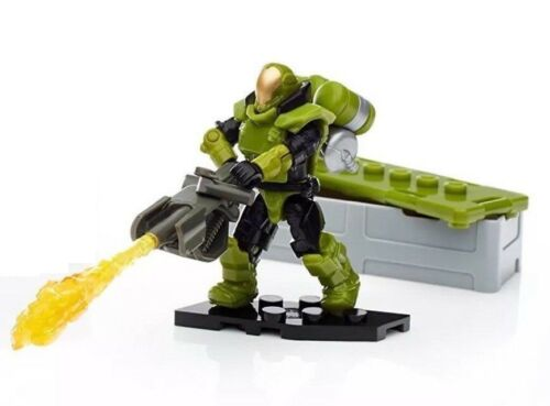 Mega Construx Halo Customizer Marines Specialist Orbital Figure With Flame FDY41