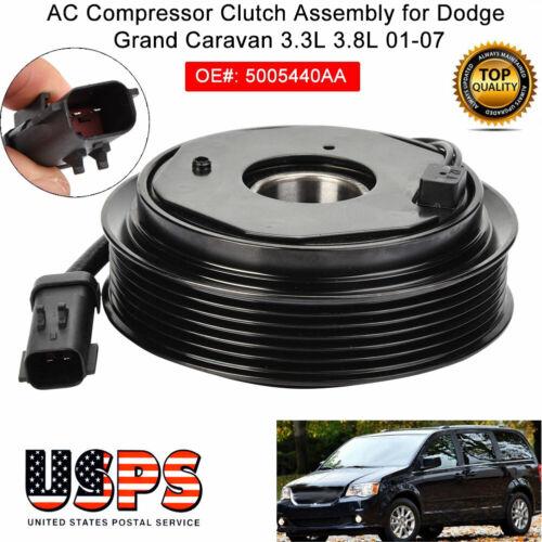 AC A//C Compressor Clutch Pulley Coil for Dodge Grand Caravan 3.3L 3.8L 2001-2007