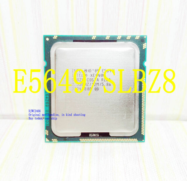 Intel Xeon E5649 / 2.53GHz /12MB / QPI 5.86GT/s (SLBZ8) 1366 Server Processor