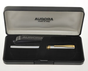 Aurora-Magellano-steel-fountain-pen-with-engraved-new-in-box