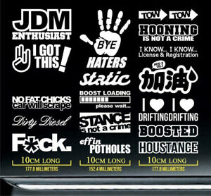 JDM-Car-Decal-Package-17-pieces-Car-Windshield-Window-Vinyl-Decals-Stickers