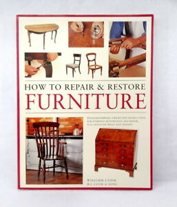 How to Repair and Restore Furniture by William Cook like new illustrated PB 2006