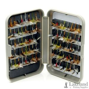 G-Fly-Box-Assorted-Winged-Dry-Flies-Trout-Fly-Fishing-Sizes-10-14-Available