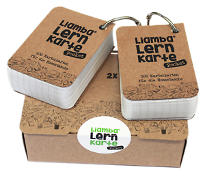 Liamba Lernkarte Pocket2 x 100 Karteikarten für unterwegsDIN A8