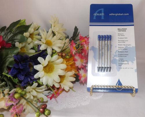 Vidal Pens 5 Blue M1 Alder Ballpoint Refills fits Crowne Medina Lexi Solare