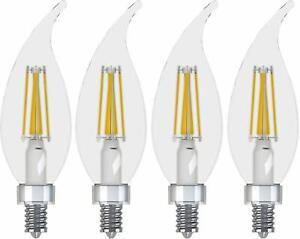LED Bulbs GE Candelabra Light 3.5-Watt Dimmable 2700K Soft White 40-Watt Clear