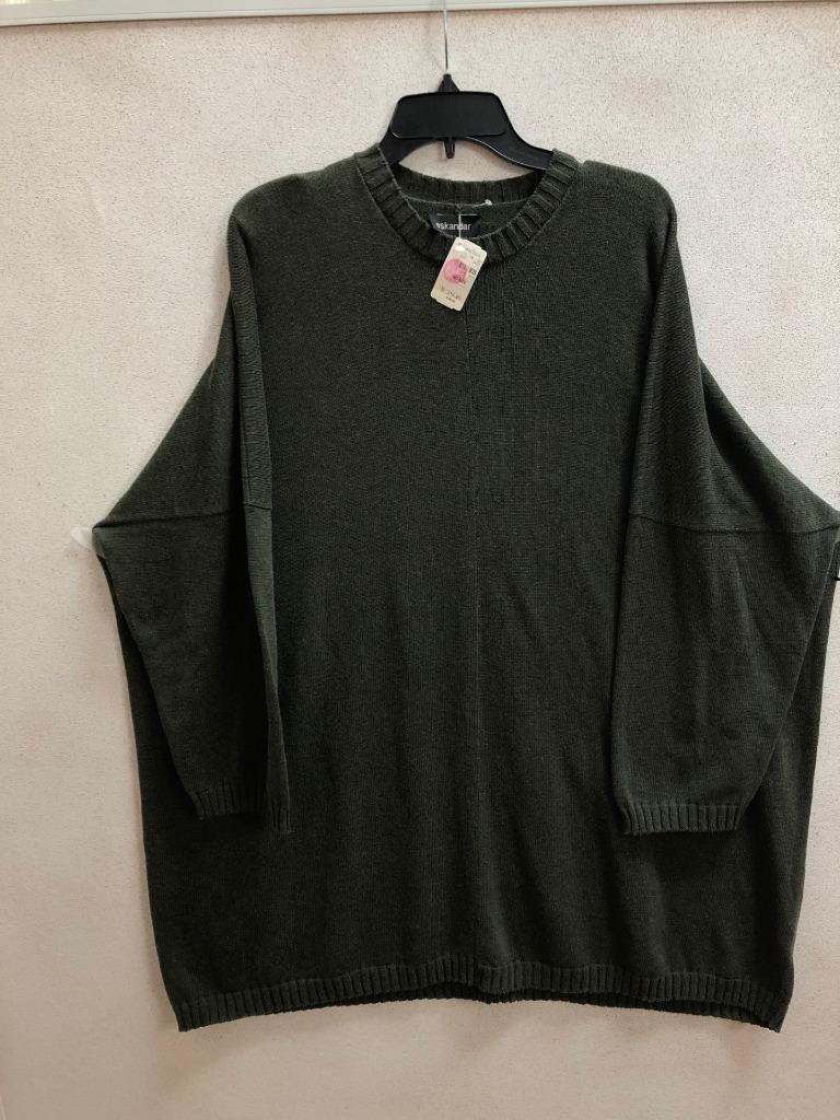 NWT Eskandar O S 1x 2x Olive Cotton Knit Tunic Dress