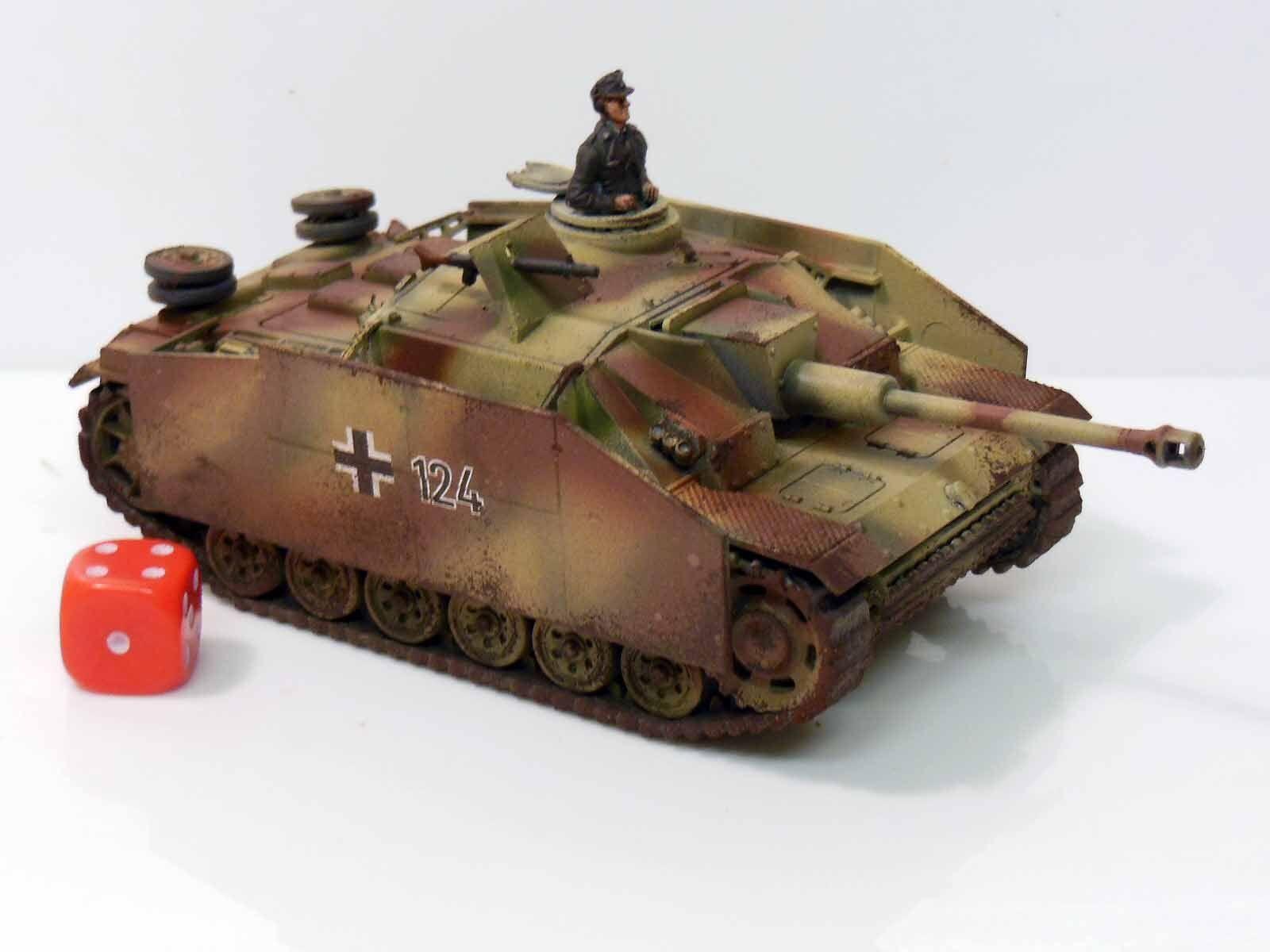 28mm bolt aktion befehlskette deutschen stug - gemalt und überstanden die r1