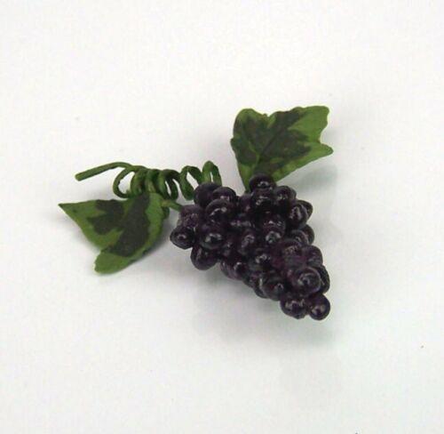 Krippendekoration oder für Puppenhaus 2 cm. L Miniatur Weintrauben blau