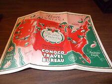 1933 Conoco Indiana Vintage Road Map