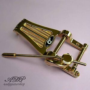 Vibrato-Duesenberg-Radiator-Tremolo-Long-B7-Diamond-Tremola-TDRLG-Gold