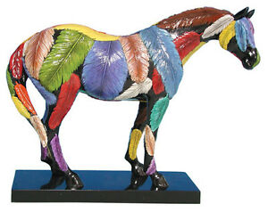 Trail-of-Painted-Ponies-HORSEFEATHERS-PONY-FIGURINE-New-in-Box-1st-Edition