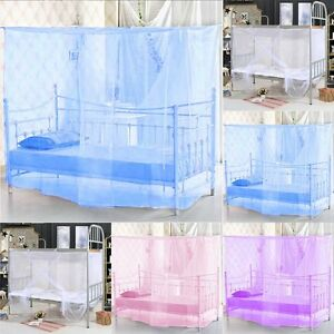 Hot-Sale-Student-Dormitory-Bed-Encryption-Dust-Mosquito-Net-Four-Corner-Post-Bed