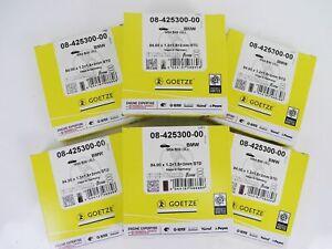 6x Piston Rings Götze BMW 3,0l 330i 530i 730i X3 X5 Z3 Z4 M54B30 M54B25 84,0mm