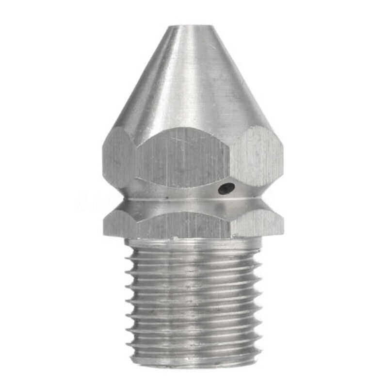 """Pressure Washer Drain Sewer Cleaning Jetter Nozzle 3//8/"""" 9 Jets Male 1//4/"""" 4 Jet"""