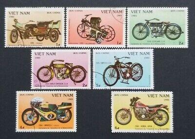 "100% QualitäT Vietnam: Michel-nr. 1572-1578 ""100 Jahre Motorräder"" 1985, Gestempelt"