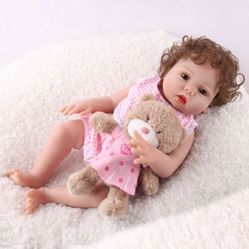 "16/"" Full Body Silicone Reborn Baby Doll Anatomically Handmade Xmas Gifts Doll"