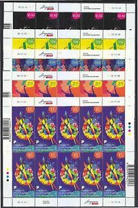 SINGAPORE-2016-50TH-ANNIV-SINGAPORE-YOUTH-FESTIVAL-5-FULL-SHEETS-10-STAMPS-MINT