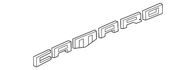 Genuine GM Nameplate 84534516