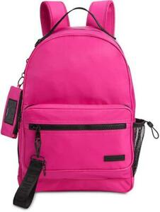 Steve-Madden-Play-Pink-Water-Resistant-Backpack-With-ID-Case-MSRP-98