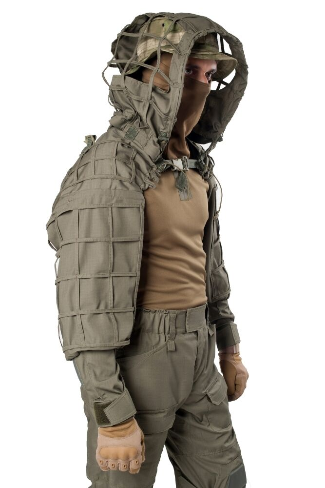 Disguise Sniper Coat  Scorpion    Viper  Hood Olive by Giena Tactics  free shipping on all orders