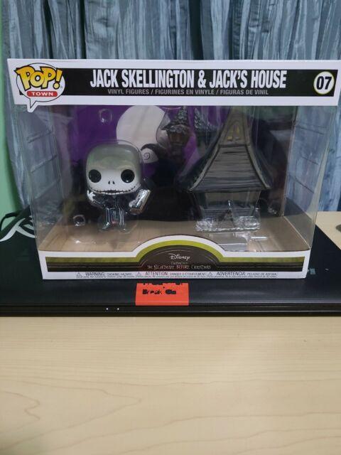 NIGHTMARE BEFORE CHRISTMAS FUNKO POP 07 JACK SKELLINGTON /& JACK/'S HOUSE FIGURE
