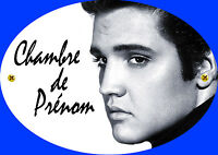 Plaque De Porte Elvis Presley Personnalisée Avec Prénom (v2)