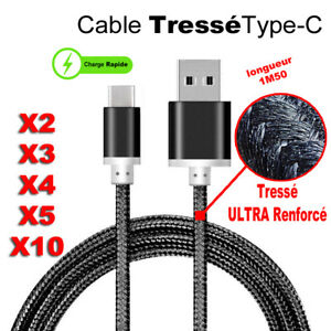 USB-Type-C-Rapide-Donnee-Cable-Chargeur-Samsung-Galaxy-S8-S9-A8-Plus-Note-9-8-7