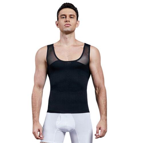 Bauchweg Bodyshaper Slimming T-Shirt Men Miederbody Shapewear Figurformer Ärmeln
