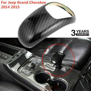 For Jeep Grand Cherokee 2014 2015 Carbon Fiber Gear Lever Shift Knob Cover Trim