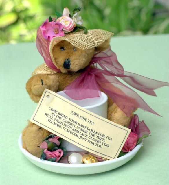 *NEW* VICTORIAN DECORATIVE TEDDY BEAR TEA-CUP
