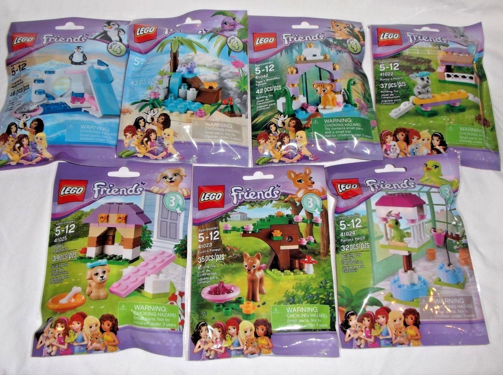 LEGO sealed POLYBAG lot x7 41023 41043 41041 41022 41042 41025 41024 FRIENDS set