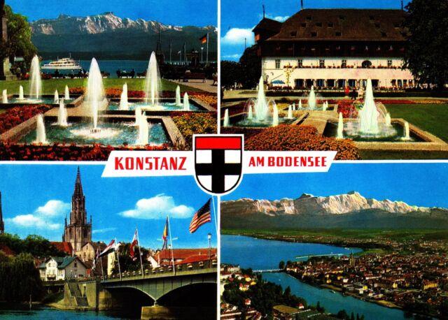 Konstanz am Bodensee , Ansichtskarte