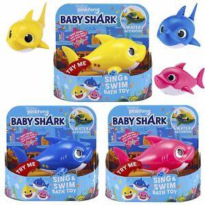 PINKFONG-ZURU-Baby-Shark-Badewanne-Toys-Alive-Kinder-Spielzeug-ROBO-Fisch-BLAU