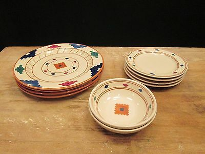 10 pcs Hartstone USA Cheyenne Aztec Southwest Dinnerware - Plates Bowls Colorful & Dinnerware Southwest collection on eBay!