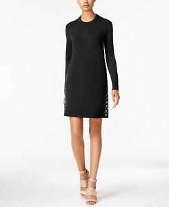 539b826f603 Image is loading Michael-Kors-JL8358-59-Grommet-Studded-Sweater-Dress-