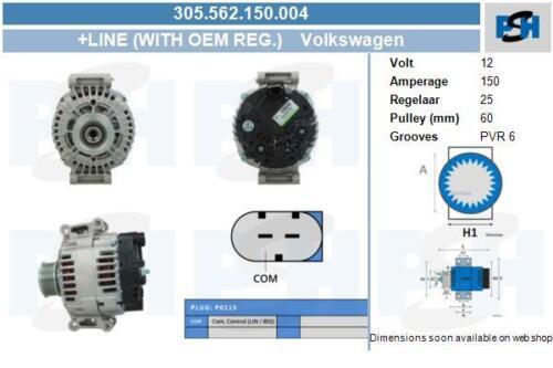 Lichtmaschine 305.562.150.004 mit Original Valeo Regler