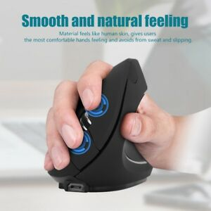 2.4GHz Wireless Ergonomic Optical Vertical Mouse 800/1200/1600DPI For Laptop PC
