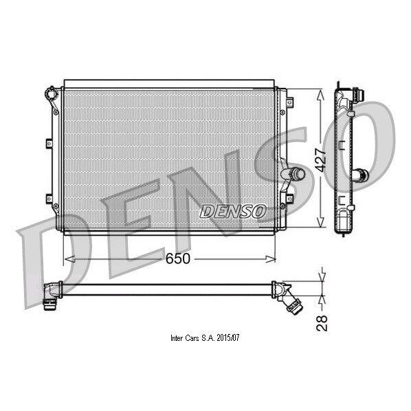 Kühler, Motorkühlung DENSO DRM32017