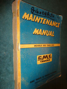 1955 GMC SHOP MANUAL / ORIGINAL SHOP BOOK / MODELS 100-500 PICKUP PANEL & MORE!