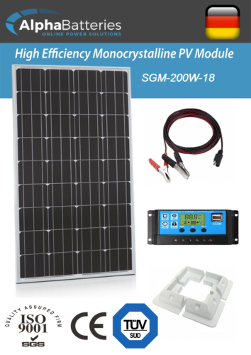 12V-200W-Xplorer-German-Cell-Solar-Panel-Kit-Caravan-Boat-Motorhome