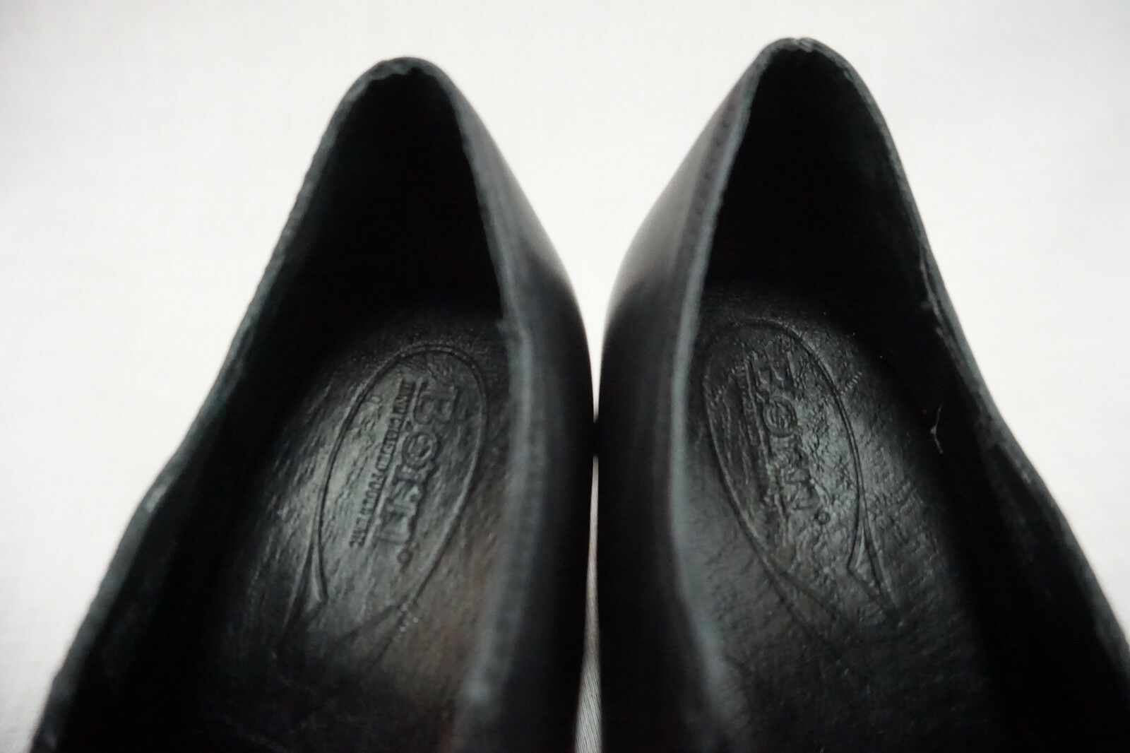 Born Black Slip On Block High Heel Leather Horsebit Loafers Loafers Loafers Women's 7.5 M 98a8b3