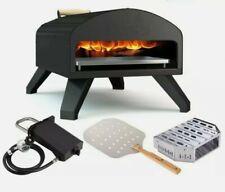 New Bertello Outdoor Pizza Oven Full Bundle With Peel Gas Burner Wood Tray